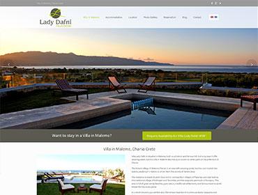 Κατασκευή ιστοσελίδας Villa lady Dafni